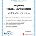 Certyfikat konferencja podologia moja pasja2 2015