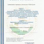 Certyfikat spotkania inform-edukacyjnym 2016