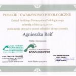 Członek Polskiego Towarzystwa Podologicznego PrzyjacielStop 2012