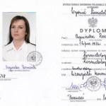 Dyplom Kosmetologii PrzyjacielStop 2004