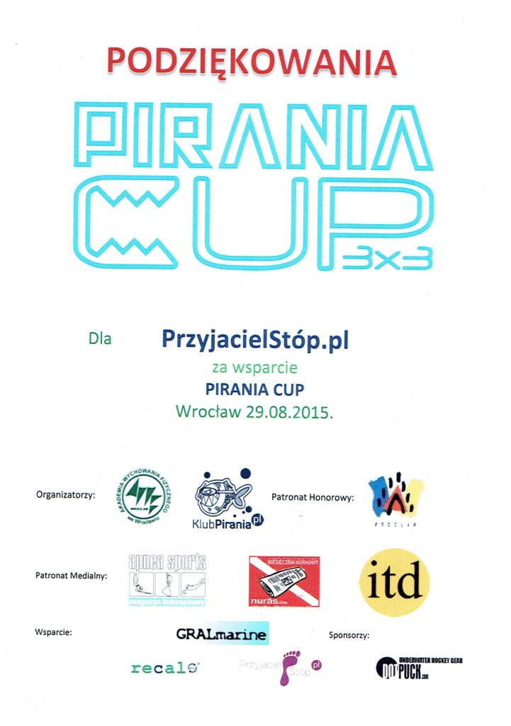 Podziękowania PiraniaCUP dla PrzyjacielStop 2015