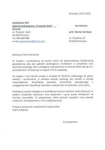 pismo do Ministra 2015